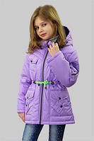 Куртка (парка) для девочки демисезонная Лера на рост 134 см, цвета в ассорт.