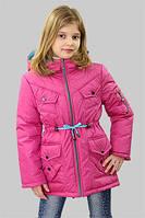 Куртка (парка) для девочки демисезонная Лера на рост 140 см, цвета в ассорт.