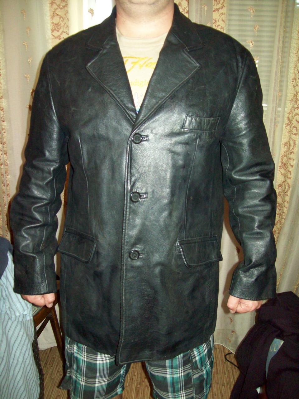 Мужская куртка 100%натуральная кожа xl