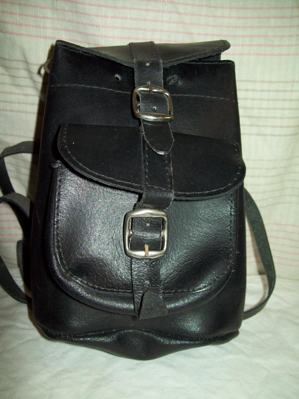 Рюкзак-мини 100%плотная кожа 19*18см