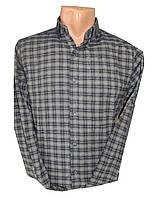 Рубашка мужская длинный рукав латки клетка