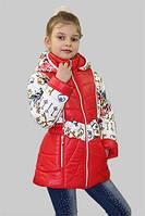 Куртка-трансформер (куртка/жилетка 2в1) для девочки демисезонная Сильвия на рост 128 см, цвета в ассорт.