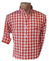 Рубашка мужская трансформер клетка, фото 1