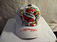 Белая кепка-бейсболка ED HARDY оригинал котон