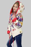 Куртка для девочки демисезонная Мальва на рост 140 см, цвета в ассорт.