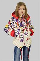 Куртка для девочки демисезонная Мальва на рост 152 см, цвета в ассорт.