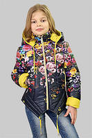 Куртка для девочки демисезонная Мальва на рост 134 см, цвета в ассорт.