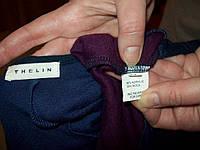 Платье THELIN комбинированное 30%шерсть пог-46см