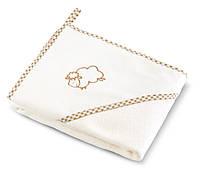 Полотенце с уголком детское Sensillo Sheep