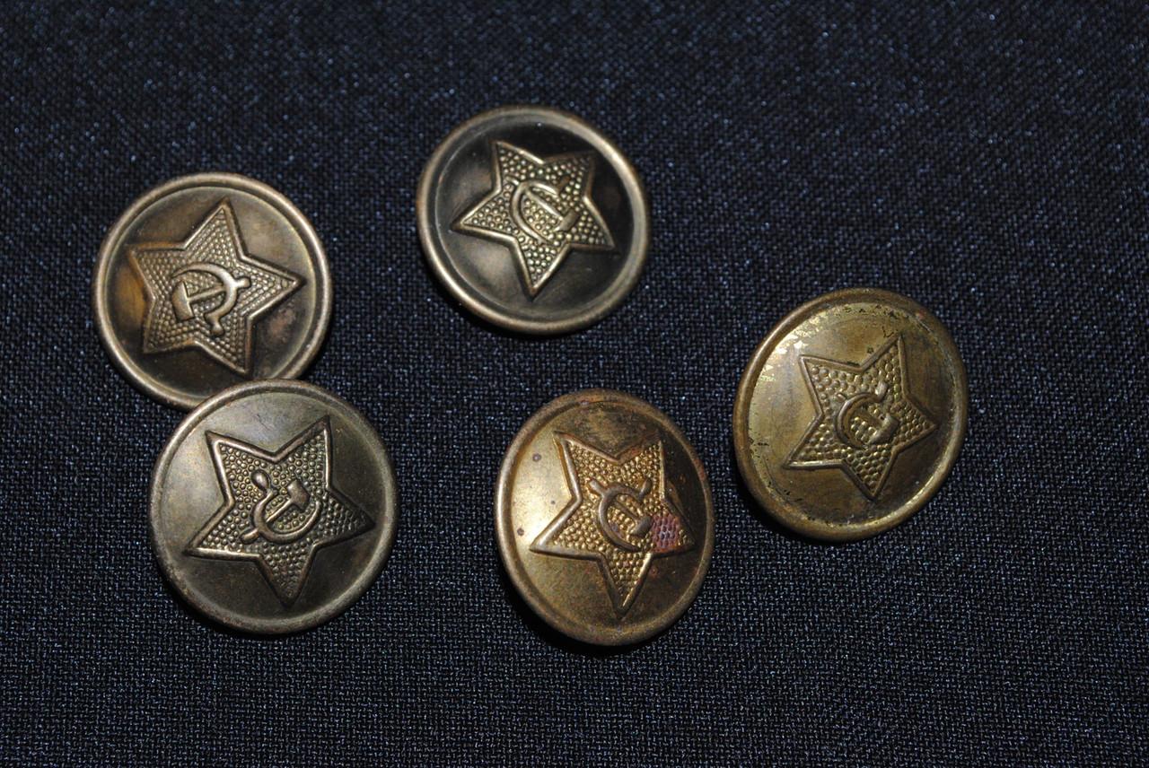 Пуговицы СССР армейские 5 шт.