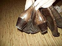 Сапоги-казаки состаренная кожа италия 36-37