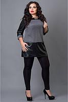 Стильная женская туника темно-серого цвета