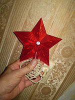Звезда на елку. СССР. Гирлянда. Рабочая.