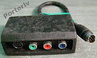 S-Video+композит, перехідник, адаптер відеокарти.