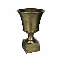 Алюминиевая большая ваза бронза