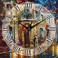 Часы-картина «Осенний дождь»