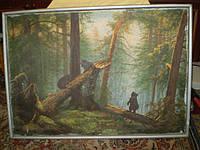 Картина,холст масло, копия И.Шишкина 103х73см.