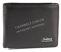 Удобный мужской кошелек с зажимом для купюр из натуральной качественной кожи  SALFEITE art. 2142SL черн син ло