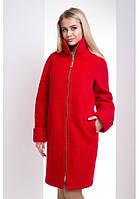 Красивое пальто женское на молнии в 8ми цветах М-038/1