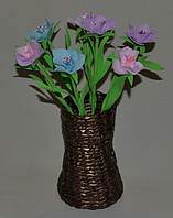 Букет Традисканция из фоамирана. Оригинальный подарок на день учителя