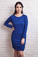 Базовое однотонное платье с длинным рукавом