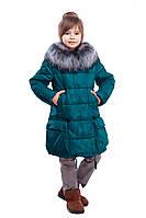 Зимнее пальто на девочку с мехом чернобурки Малика  нью вери (Nui Very) в Украине по низким ценам