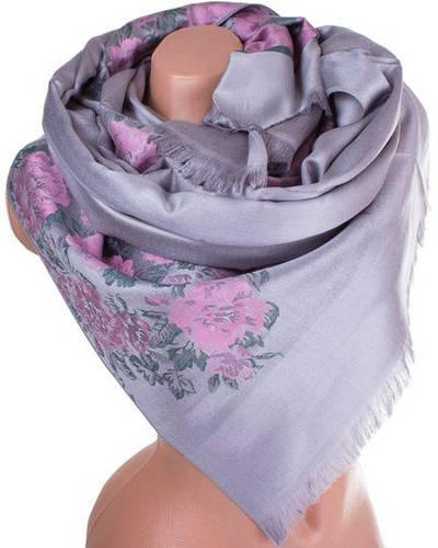 Потрясающий женский двусторонний палантин из пашмины 186 на 71 см ETERNO ES2707-10-5 серый