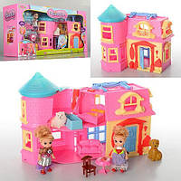 Домик для кукол с мебелью животными раскладной детский игровой набор SD181