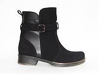 Зимние замшевые ботинки, черного цвета, 37-40р