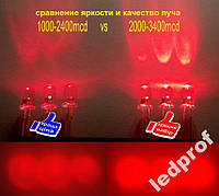 5мм светодиод красный ультра яркий  3400мкд