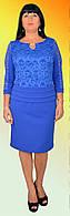 Красивое платье с гипюровыми вставками
