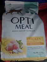 Optimeal корм для кошек с курицей 4кг