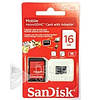Карта памяти SanDisk microSD 16G 10class+SDпереход