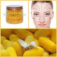 Натуральные коконы шелкопряда для мягкого пилинга лица с маслом апельсина Silk Cocoon Facial Scrub