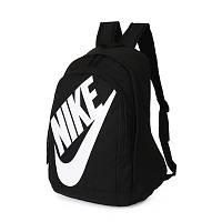 Рюкзак Nike черный с белым логотипом и надписью