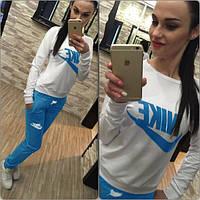 Спортивный костюм женский Nike голубой , спортивная одежда