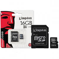 Карта памяти KINGSTON microSD32G 10class+SDпереход