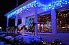 Гирлянда 300 LED Бахрома  6.5*0,5 м синяя.
