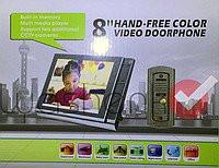 """Видеодомофон 8"""" с возможность записи видео ."""