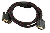 Видео-кабель  VGA-DVI 2 феритта 10м.