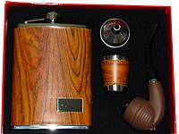 П Набор подарочный 0729 фляга трубка
