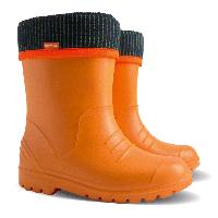 Детские демисезонные резиновые сапоги Demar DINO оранжевые р.22--37 мальчикам и девочкам