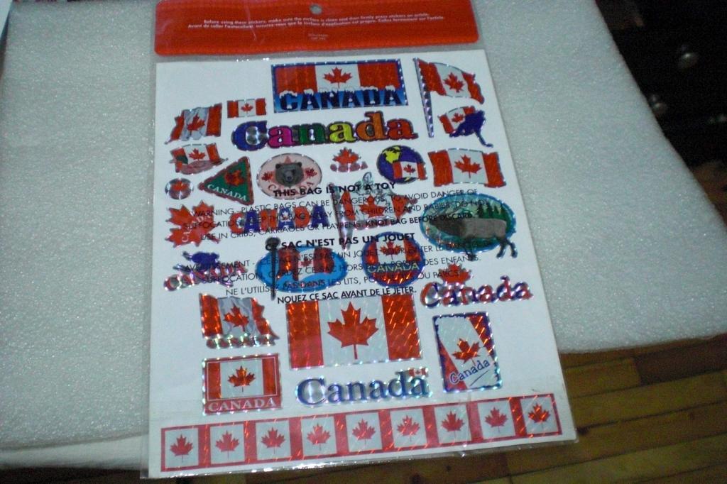Наклейка Канада На формат А4 27 наклеек
