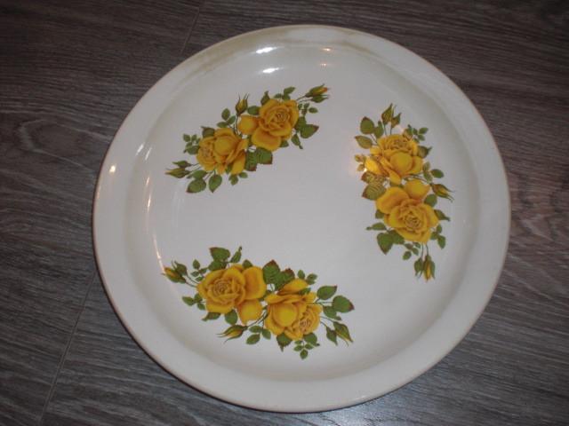 Тарелка блюдо Цветы Розы Буды СССР 30см новое