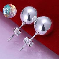 Серьги жемчун гвоздики серебро 925