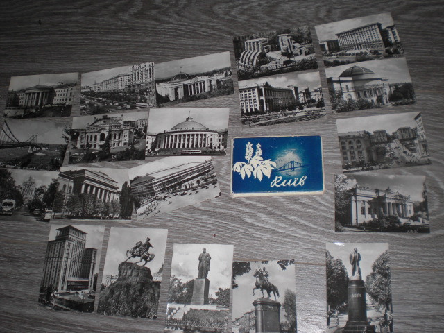 Набор открытки мини  Киев 20шт  СССР 1960 год