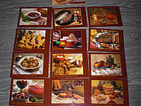 Набор открыток украинские блюда 12 ШТ рецепты