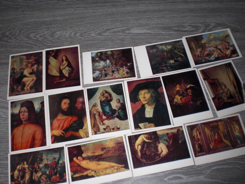 Набор открыток Дрезденская картинная галерея 15 шт