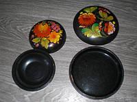 Шкатулки 2шт цветы  Петриковка СССР