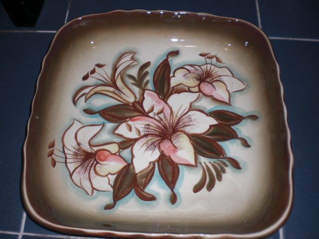 Тарелка большое блюдо Цветы  Буды СССР 30см Винтаж